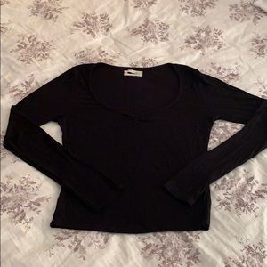 Urban Outfitters Long-sleeved Ballerina Crop Top